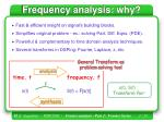 frequency analysis why