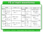 fs of main waveforms