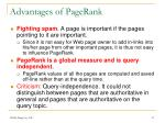 advantages of pagerank