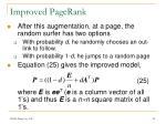 improved pagerank