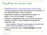 pagerank the intuitive idea
