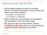 social network and the web