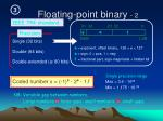 floating point binary 2