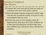 generalized completion time theorem