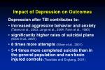 impact of depression on outcomes36