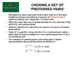 chosing a set of preferred pairs