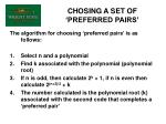 chosing a set of preferred pairs43