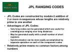 jpl ranging codes
