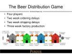 the beer distribution game