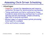 assessing clock driven scheduling