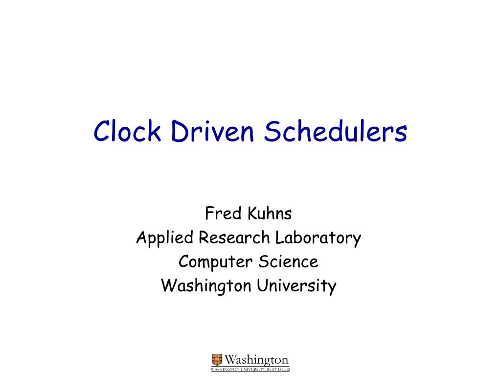 clock driven schedulers l.