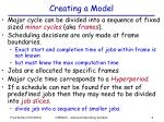 creating a model