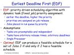 earliest deadline first edf