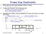 frame size constraints