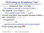 performing an acceptance test