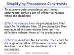 simplifying precedence constraints