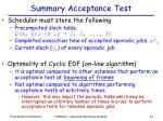 summary acceptance test