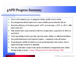 gapd progress summary