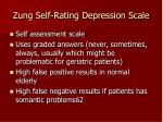zung self rating depression scale