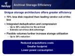 archival storage efficiency