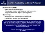 archive availability and data protection