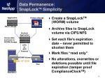 data permanence snaplock tm simplicity