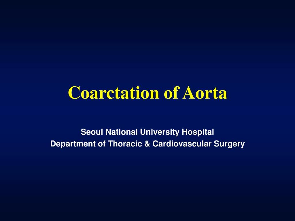 coarctation of aorta l.