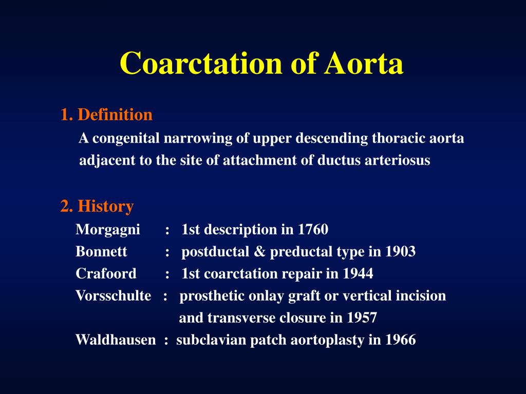 PPT - Coarctation of Aorta PowerPoint Presentation - ID:157220