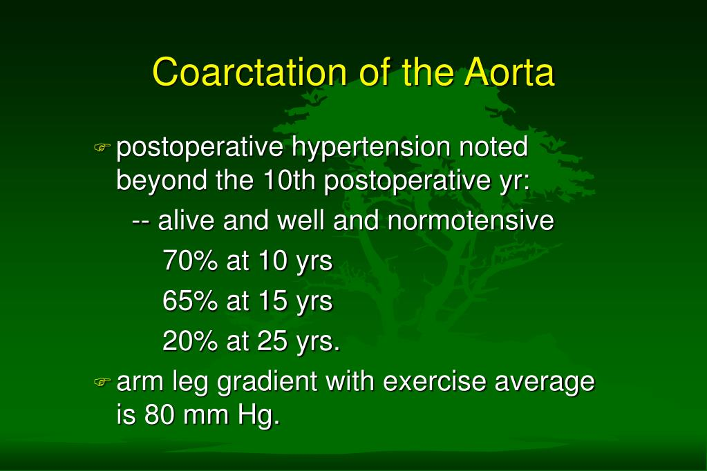 coarctation of the aorta l.