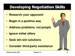 developing negotiation skills
