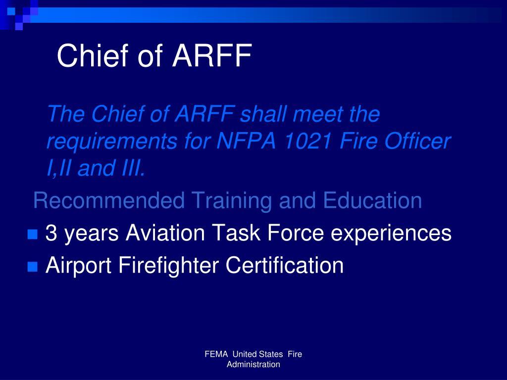 Chief of ARFF