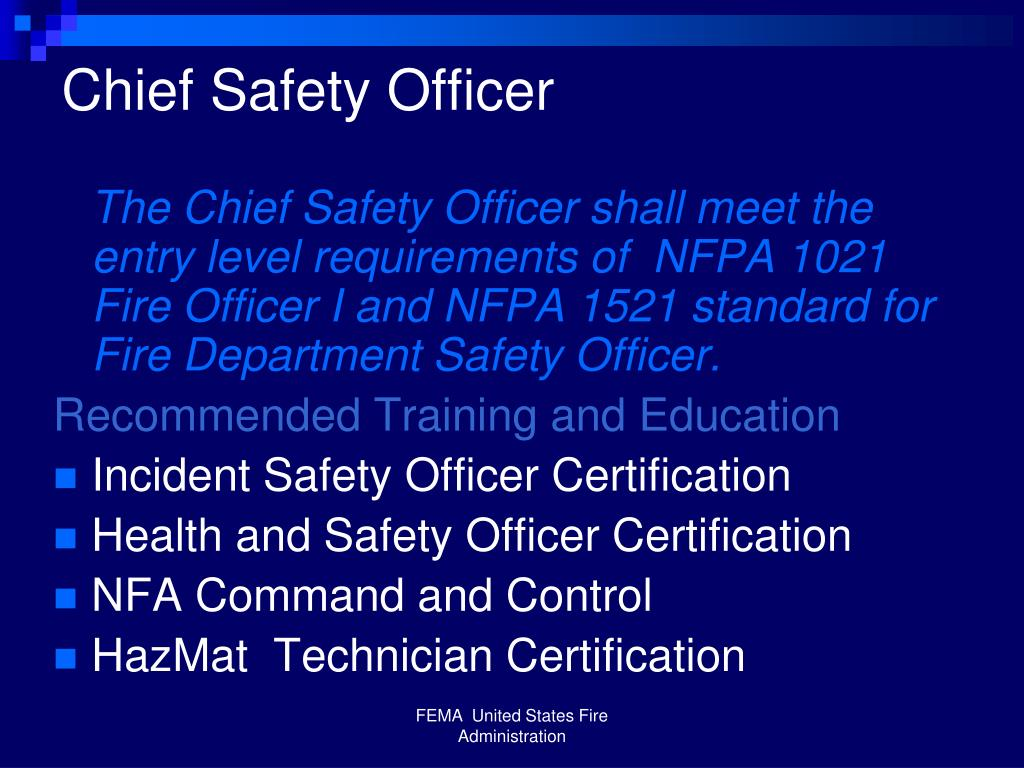 Chief Safety Officer