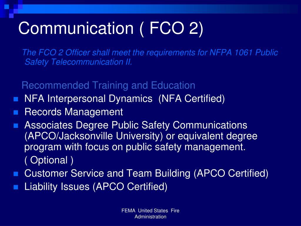 Communication ( FCO 2)