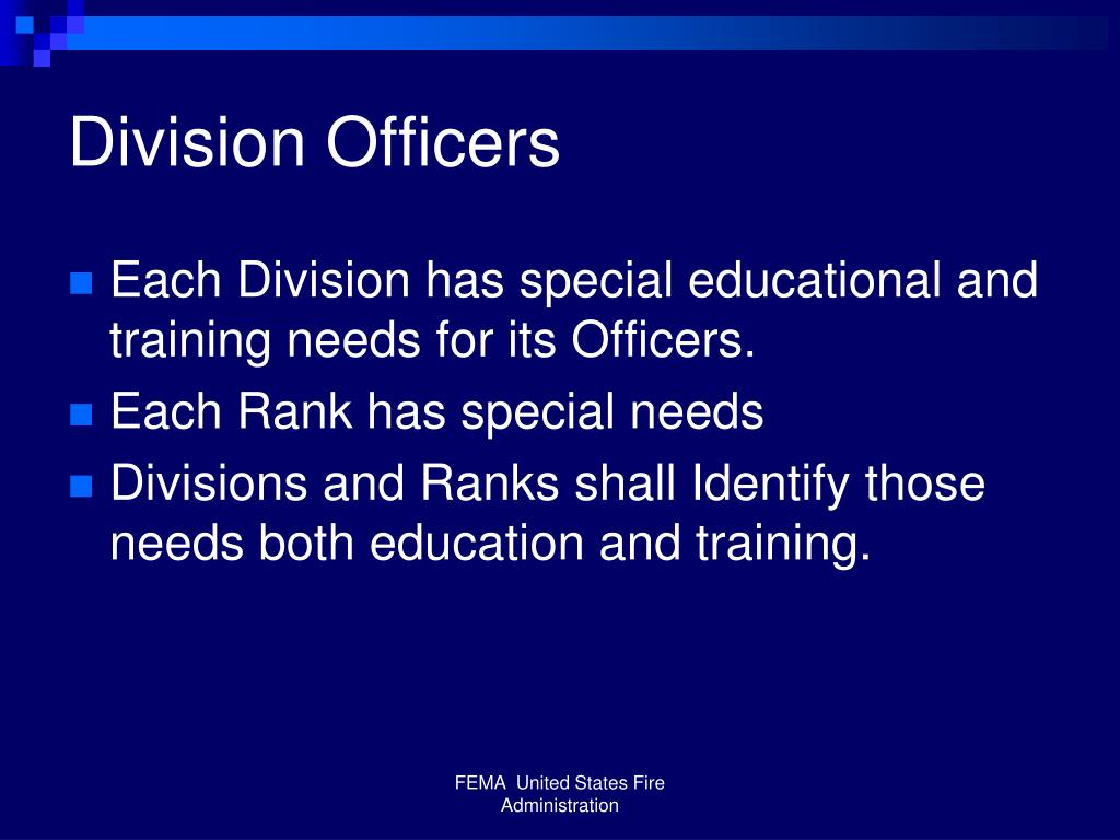 Division Officers