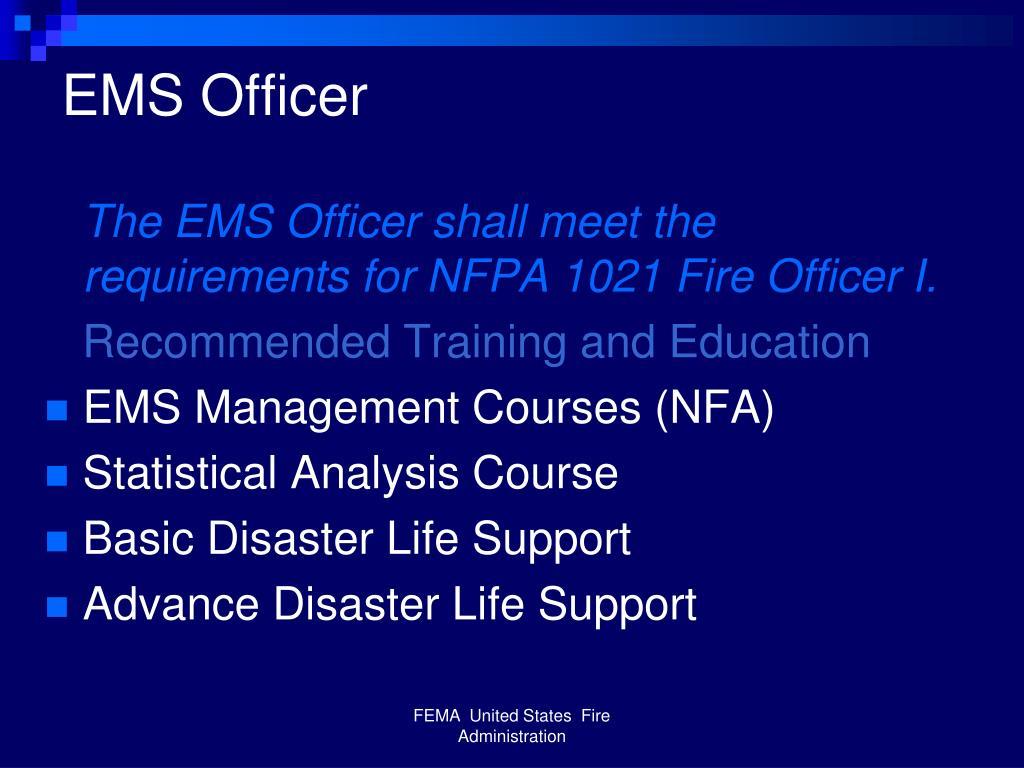 EMS Officer
