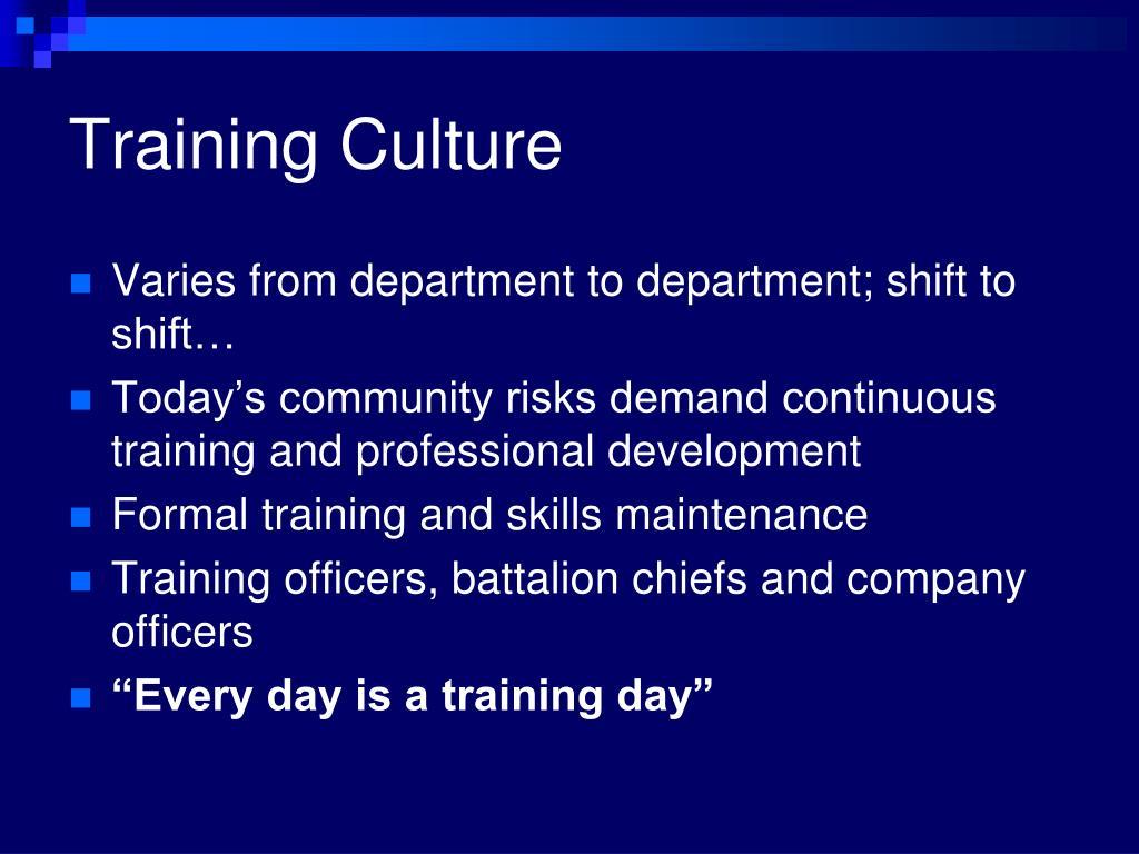 Training Culture