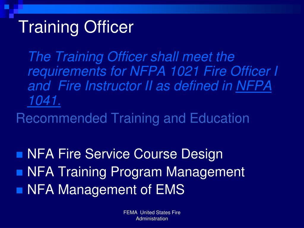 Training Officer