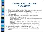 english bac system explained