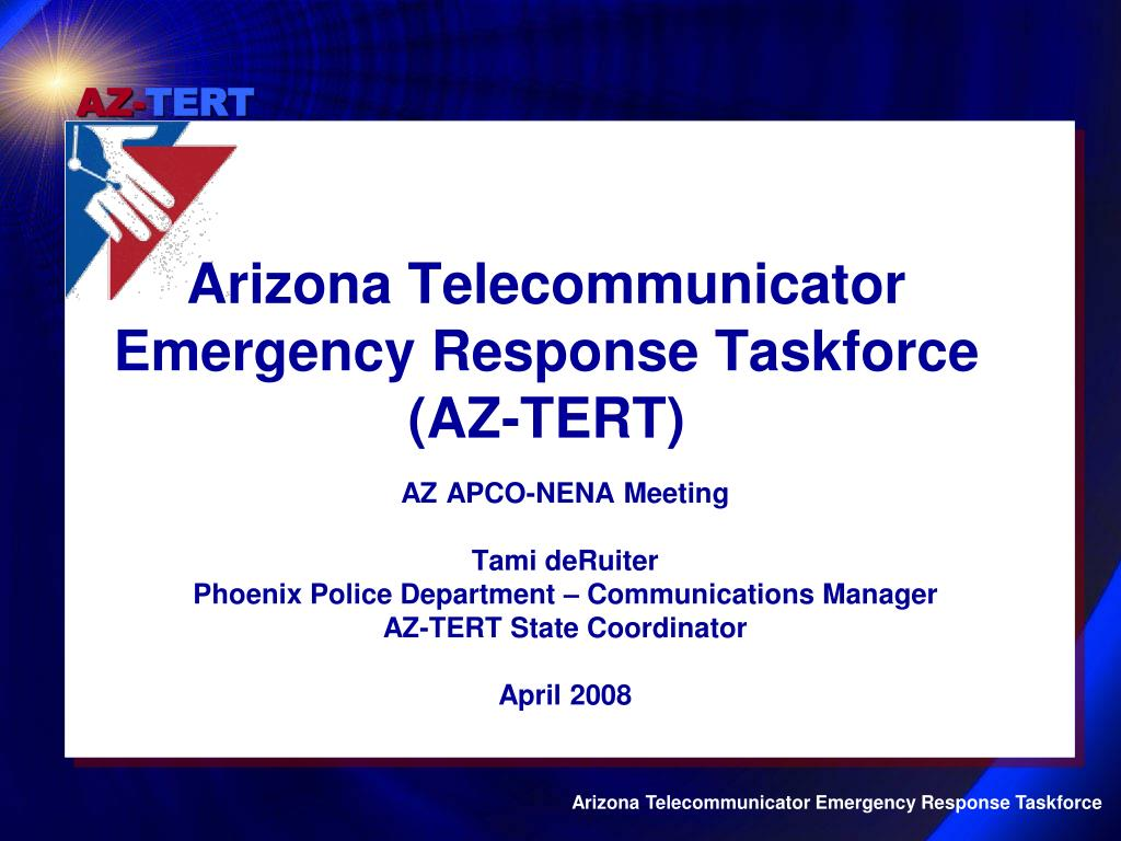arizona telecommunicator emergency response taskforce az tert l.