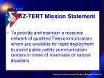 az tert mission statement