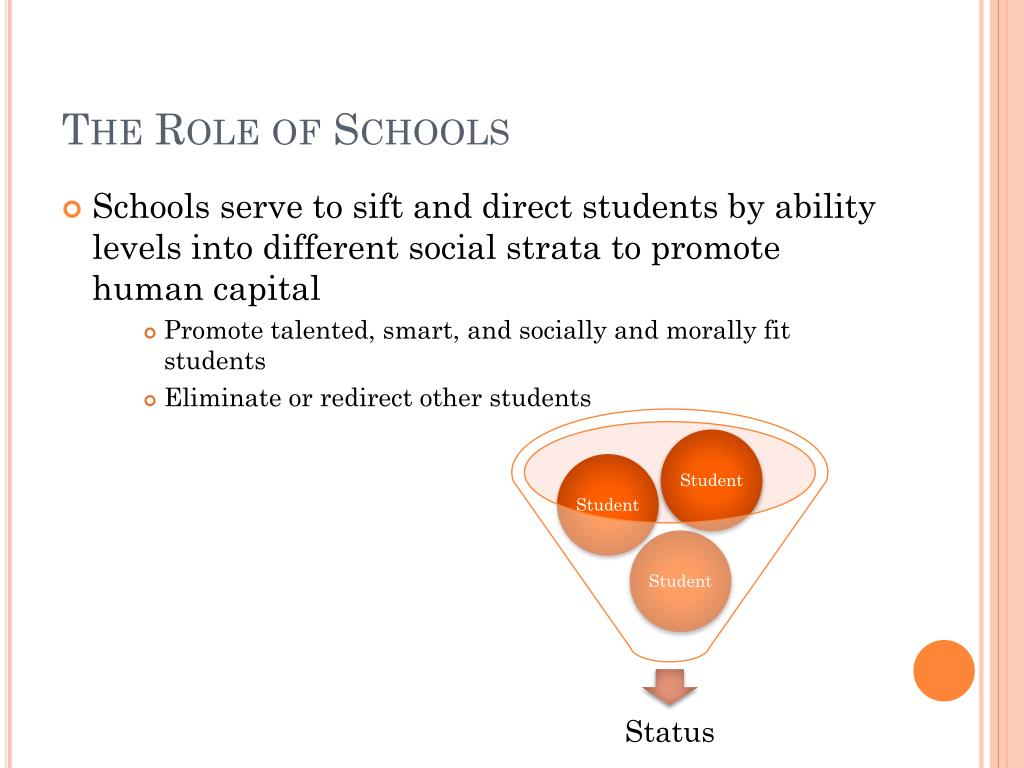 The Role of Schools