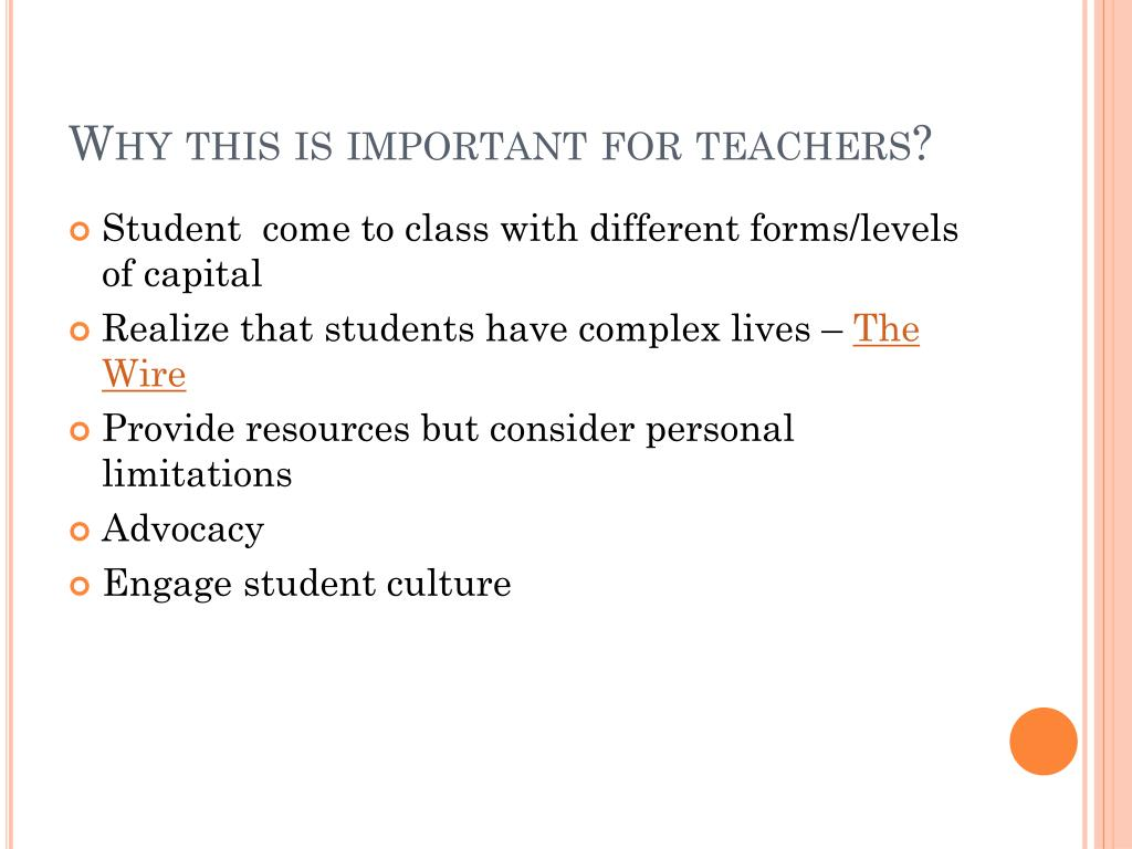 Why this is important for teachers?