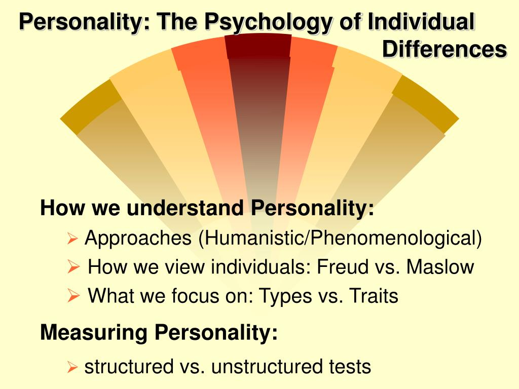 personality the psychology of individual differences l.