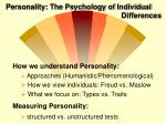 personality the psychology of individual differences