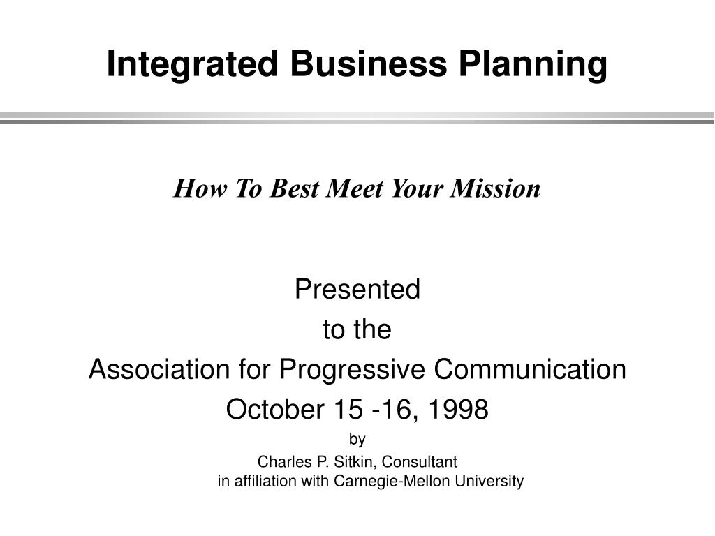 integrated business planning l.