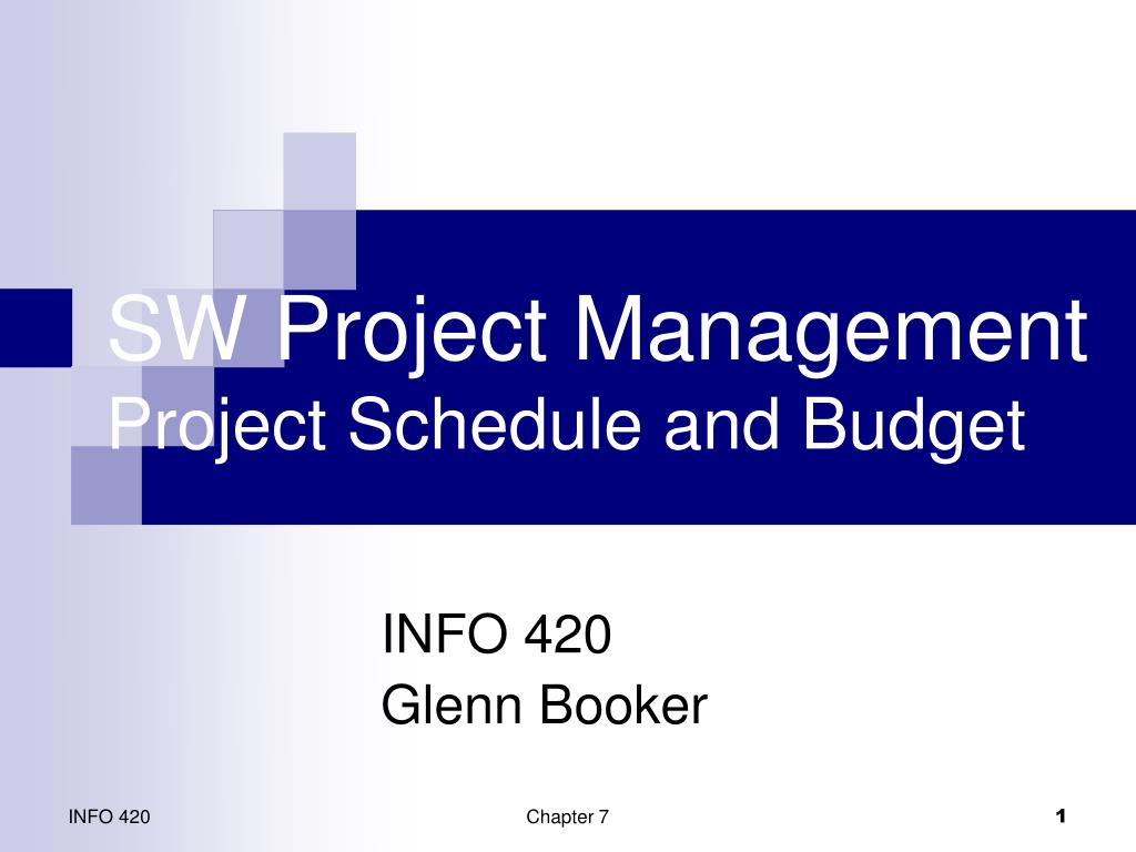 sw project management project schedule and budget l.