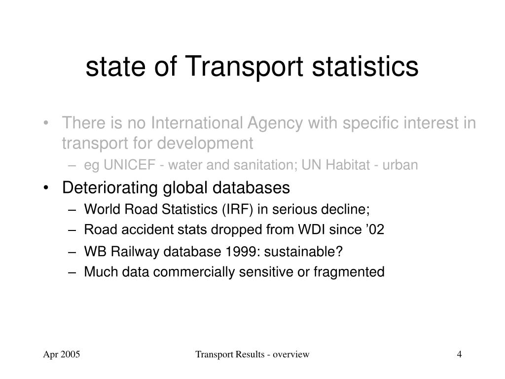 There is no International Agency with specific interest in transport for development
