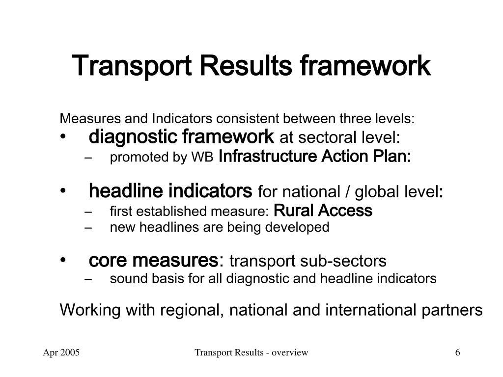 Transport Results framework