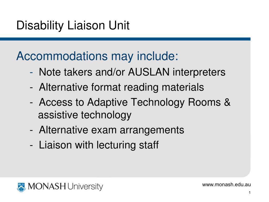 Disability Liaison Unit
