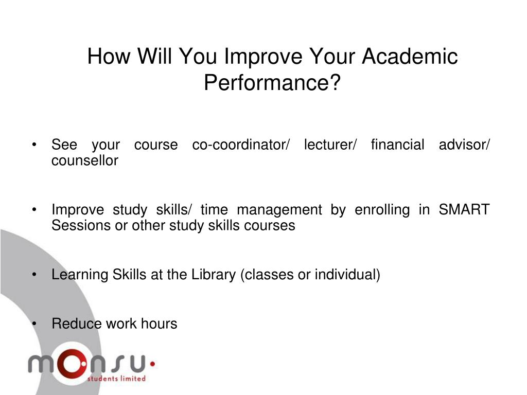 How Will You Improve Your Academic Performance?
